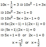 RS Aggarwal Solutions Class 10 Chapter 10 Quadratic Equations 10A 29.1
