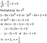 RS Aggarwal Solutions Class 10 Chapter 10 Quadratic Equations 10A 30.1