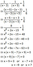 RS Aggarwal Solutions Class 10 Chapter 10 Quadratic Equations 10A 36.1