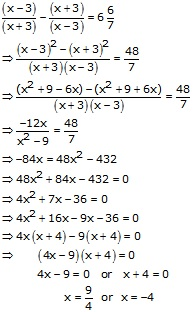 RS Aggarwal Solutions Class 10 Chapter 10 Quadratic Equations 10A 37.1