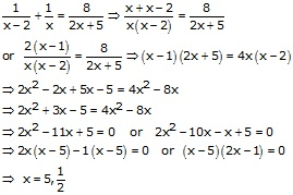 RS Aggarwal Solutions Class 10 Chapter 10 Quadratic Equations 10A 41.1