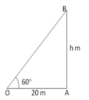 RS Aggarwal Solutions Class 10 Chapter 14 Height and Distance 14 1.1