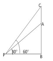 RS Aggarwal Solutions Class 10 Chapter 14 Height and Distance 14 11.1