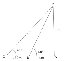 RS Aggarwal Solutions Class 10 Chapter 14 Height and Distance 14 13.1