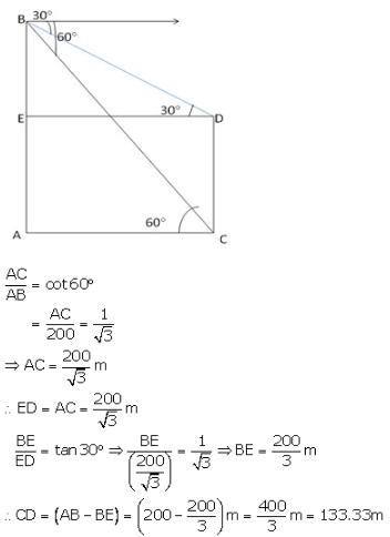 RS Aggarwal Solutions Class 10 Chapter 14 Height and Distance 14 15.1