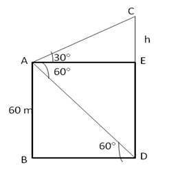 RS Aggarwal Solutions Class 10 Chapter 14 Height and Distance 14 18.1