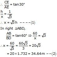 RS Aggarwal Solutions Class 10 Chapter 14 Height and Distance 14 18.2