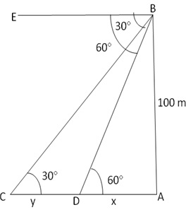 RS Aggarwal Solutions Class 10 Chapter 14 Height and Distance 14 19.1