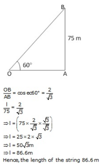 RS Aggarwal Solutions Class 10 Chapter 14 Height and Distance 14 2.1