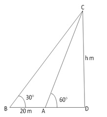 RS Aggarwal Solutions Class 10 Chapter 14 Height and Distance 14 21.1