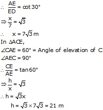RS Aggarwal Solutions Class 10 Chapter 14 Height and Distance 14 22.2