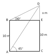 RS Aggarwal Solutions Class 10 Chapter 14 Height and Distance 14 25.1