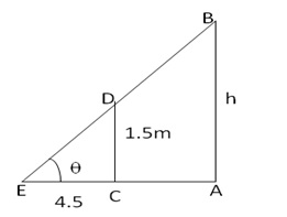 RS Aggarwal Solutions Class 10 Chapter 14 Height and Distance 14 5.1