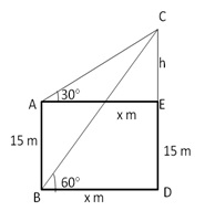 RS Aggarwal Solutions Class 10 Chapter 14 Height and Distance 14 8.1