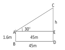 RS Aggarwal Solutions Class 10 Chapter 14 Height and Distance Q3