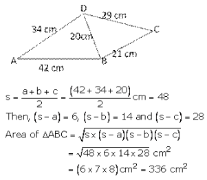 RS Aggarwal Solutions Class 10 Chapter 17 Perimeter and Areas of Plane Figures 17b 26.1
