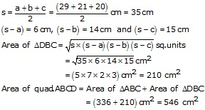 RS Aggarwal Solutions Class 10 Chapter 17 Perimeter and Areas of Plane Figures 17b 26.2