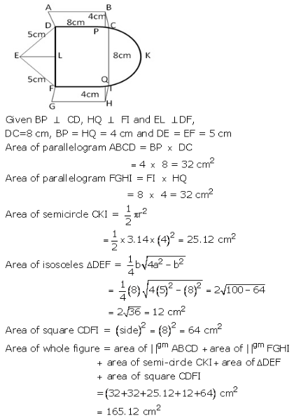 RS Aggarwal Solutions Class 10 Chapter 18 Areas of Circle, Sector and Segment 9a 46.1