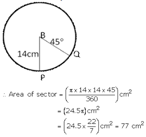 RS Aggarwal Solutions Class 10 Chapter 18 Areas of Circle, Sector and Segment 9a 58.2