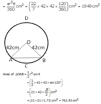 RS Aggarwal Solutions Class 10 Chapter 18 Areas of Circle, Sector and Segment 9a 73.1