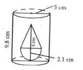 RS Aggarwal Solutions Class 10 Chapter 19 Volume and Surface Areas of Solids 9a 14.1