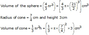 RS Aggarwal Solutions Class 10 Chapter 19 Volume and Surface Areas of Solids 9b 4.1