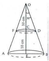 RS Aggarwal Solutions Class 10 Chapter 19 Volume and Surface Areas of Solids 9c 8.1