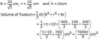 RS Aggarwal Solutions Class 10 Chapter 19 Volume and Surface Areas of Solids 9c 8.3