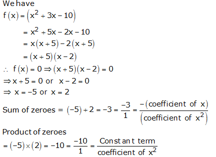 RS Aggarwal Solutions Class 10 Chapter 2 Polynomials 2a 1.1