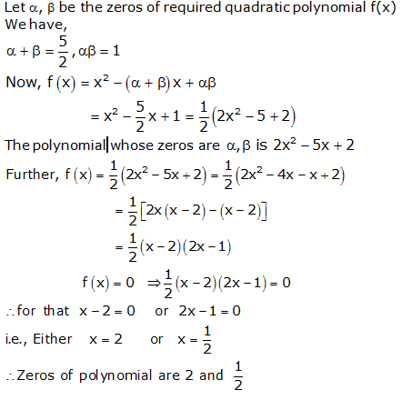 RS Aggarwal Solutions Class 10 Chapter 2 Polynomials 2a 14.1