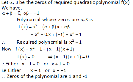 RS Aggarwal Solutions Class 10 Chapter 2 Polynomials 2a 15.1