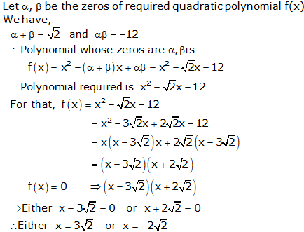 RS Aggarwal Solutions Class 10 Chapter 2 Polynomials 2a 16.1