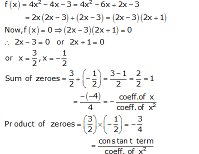 RS Aggarwal Solutions Class 10 Chapter 2 Polynomials 2a 3.1