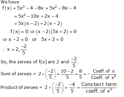 RS Aggarwal Solutions Class 10 Chapter 2 Polynomials 2a 4.1