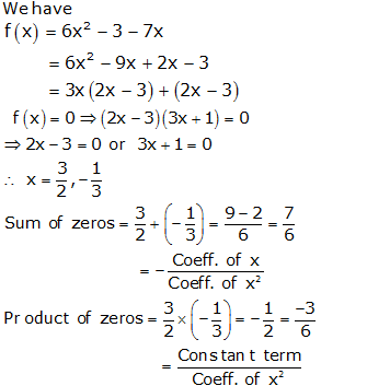 RS Aggarwal Solutions Class 10 Chapter 2 Polynomials 2a 5.1