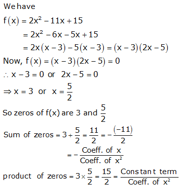 RS Aggarwal Solutions Class 10 Chapter 2 Polynomials 2a 6.1