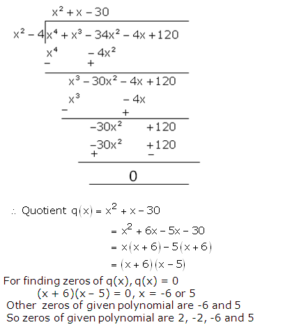 RS Aggarwal Solutions Class 10 Chapter 2 Polynomials 2b 14.2