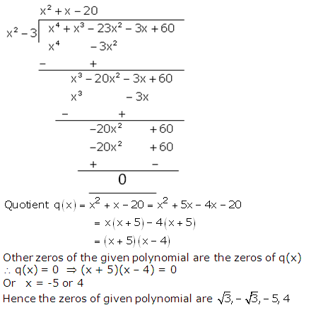 RS Aggarwal Solutions Class 10 Chapter 2 Polynomials 2b 15.2