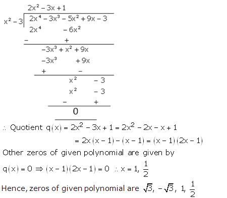 RS Aggarwal Solutions Class 10 Chapter 2 Polynomials 2b 16.2