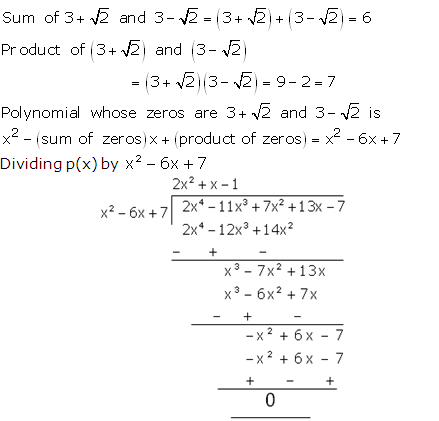 RS Aggarwal Solutions Class 10 Chapter 2 Polynomials 2b 17.1