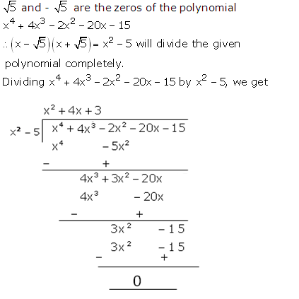 RS Aggarwal Solutions Class 10 Chapter 2 Polynomials 2b 18.1
