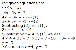 RS Aggarwal Solutions Class 10 Chapter 3 Linear equations in two variables 3b 11.1