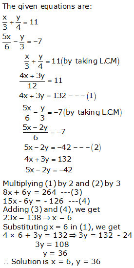 RS Aggarwal Solutions Class 10 Chapter 3 Linear equations in two variables 3b 13.1
