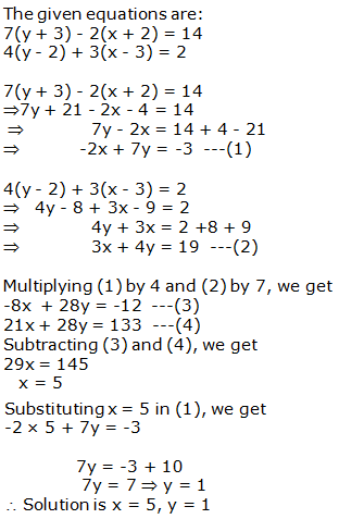 RS Aggarwal Solutions Class 10 Chapter 3 Linear equations in two variables 3b 14.1