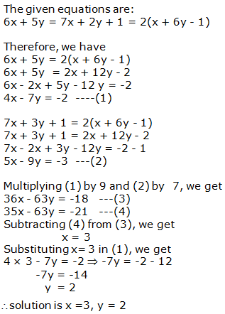 RS Aggarwal Solutions Class 10 Chapter 3 Linear equations in two variables 3b 15.1
