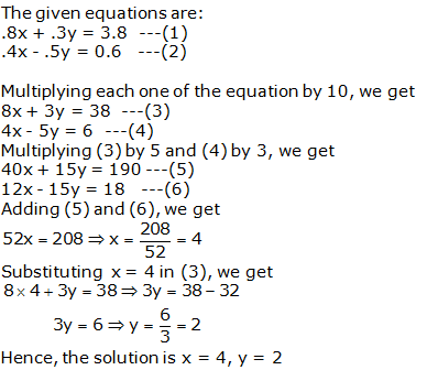 RS Aggarwal Solutions Class 10 Chapter 3 Linear equations in two variables 3b 17.1
