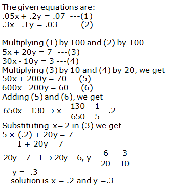 RS Aggarwal Solutions Class 10 Chapter 3 Linear equations in two variables 3b 18.1