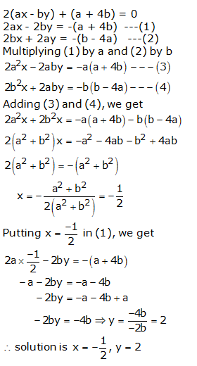 RS Aggarwal Solutions Class 10 Chapter 3 Linear equations in two variables 3b 24.1