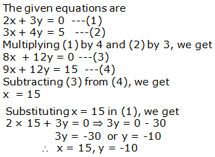 RS Aggarwal Solutions Class 10 Chapter 3 Linear equations in two variables 3b 4.1