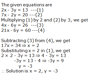 RS Aggarwal Solutions Class 10 Chapter 3 Linear equations in two variables 3b 5.1